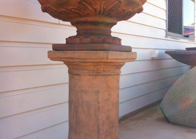 Metro Low Latern Urn & Metro Square Pedestal